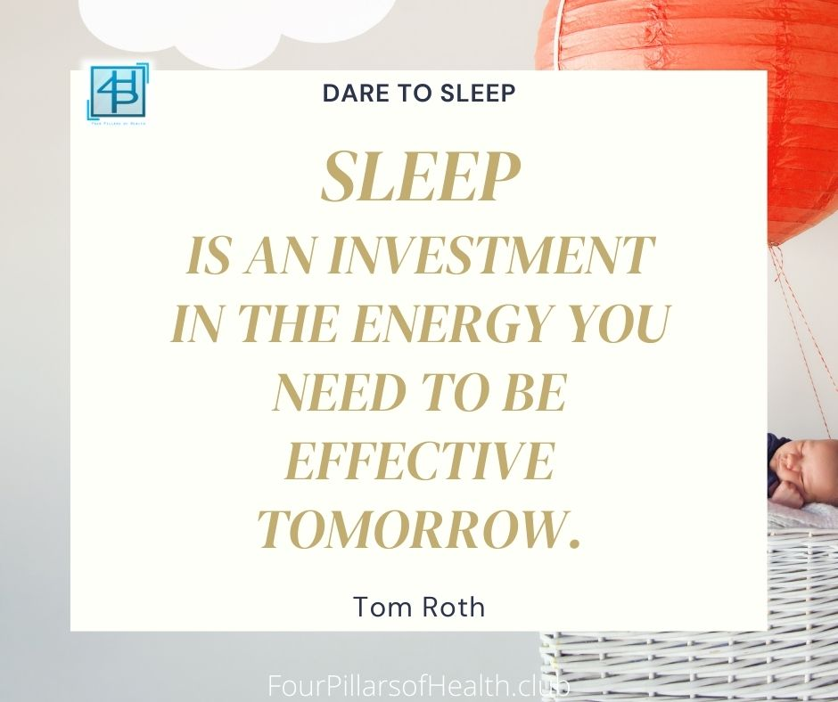 Dare to sleep - Tom Roth  Quote